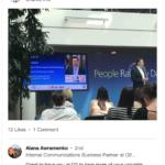 Sam Waterfall speaking at O2 Head Office Slough UK